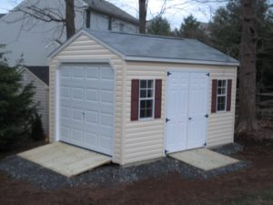 Gravel Site Preparation for portable storage shed