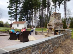 Hardscape design of stone wall in Frederick Maryland