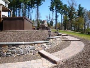Hardscape Design Steps Leading to Bottom Patio