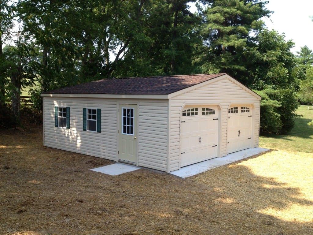 Modular garage delivered to hagerstown maryland for Garage sheds