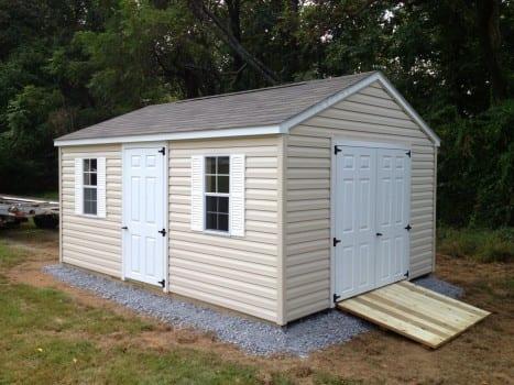 vinyl storage shed delivered to frederick maryland - Garden Sheds Vinyl