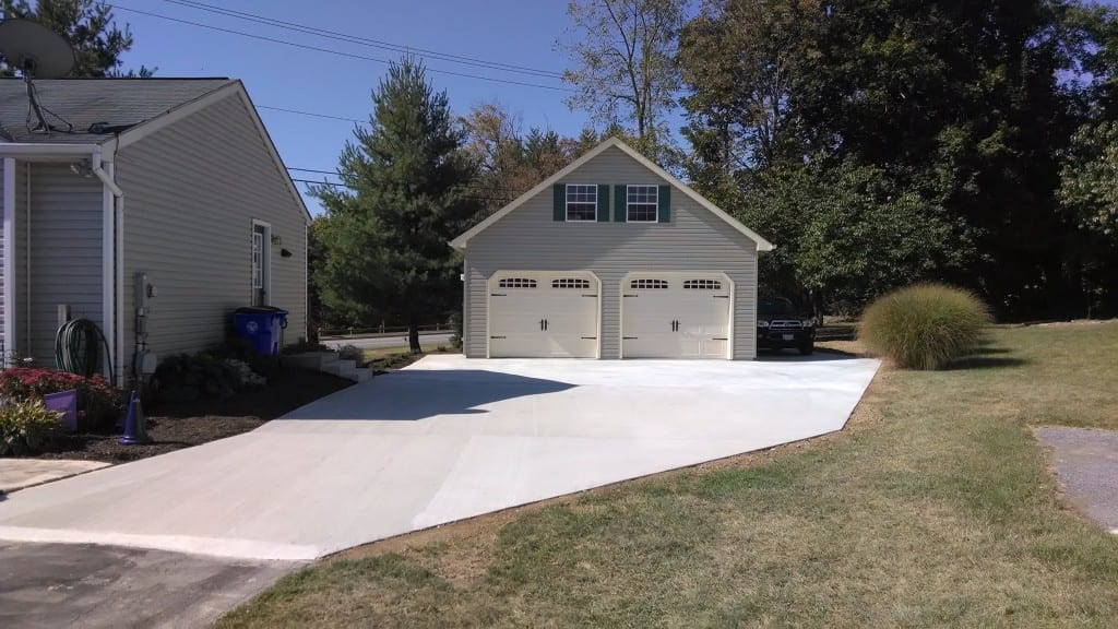Two story garage built in union bridge maryland for Garage built ins