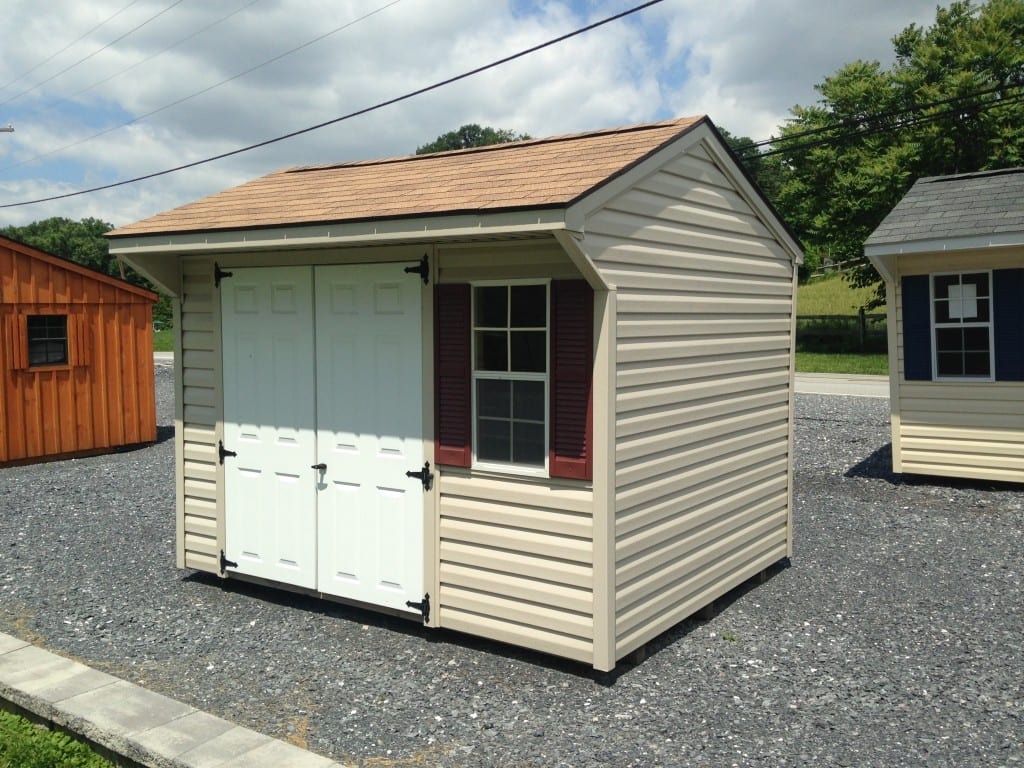 8x10 vinyl quaker storage shed for sale for Vinyl storage sheds