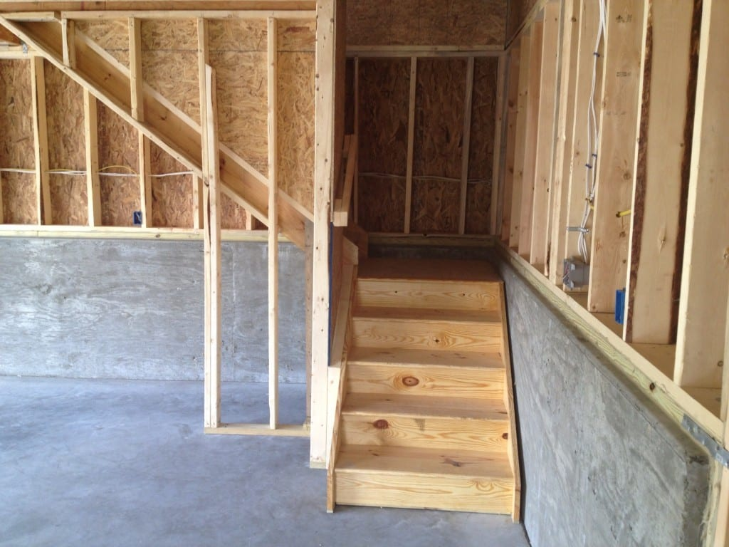 l-shaped-steps-custom-two-story-garage-retaining-wall-site-preparation
