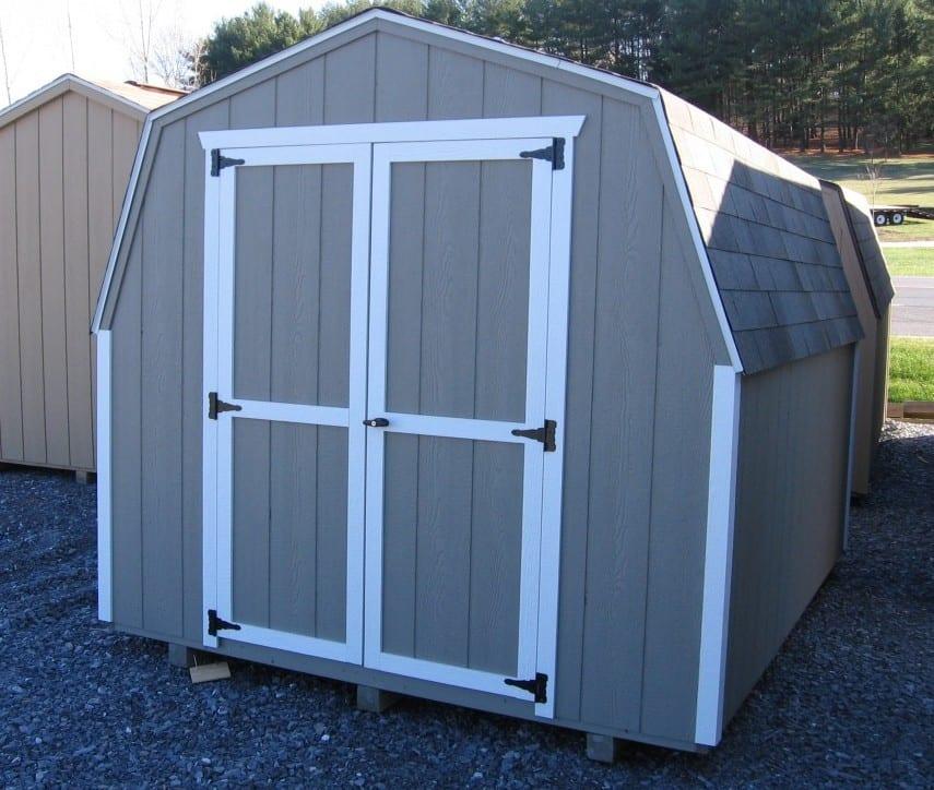 8x10-economy-mini-storage-barn-gray-siding-white-trim