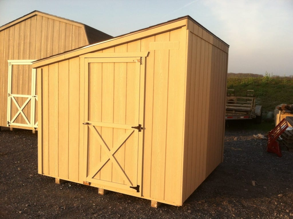 Lean to storage shed delivered to md va wv 4 outdoor for Lean to storage shed