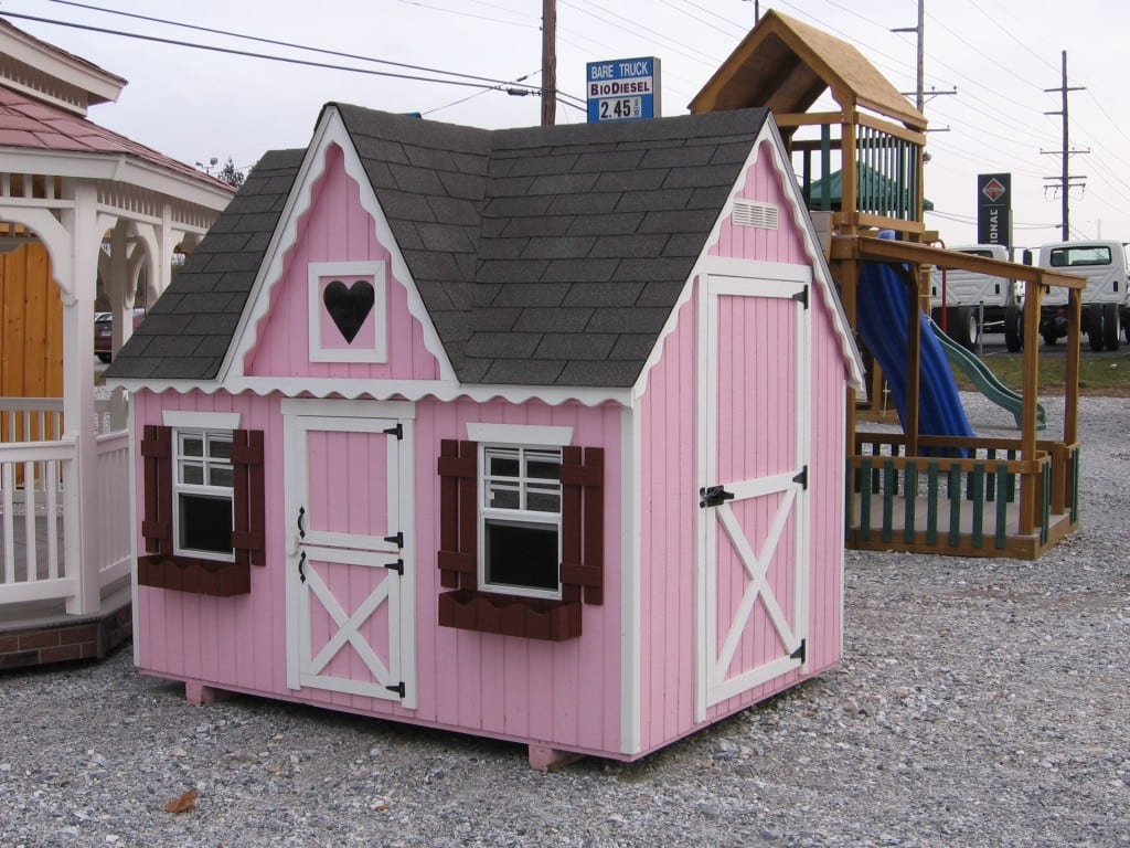 Pink Outdoor Playhouse