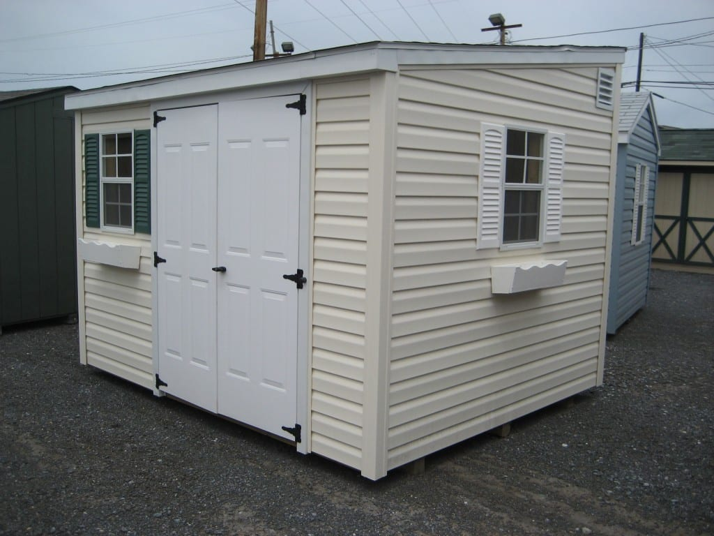 Custom Built On Site Single Slope Storage Shed