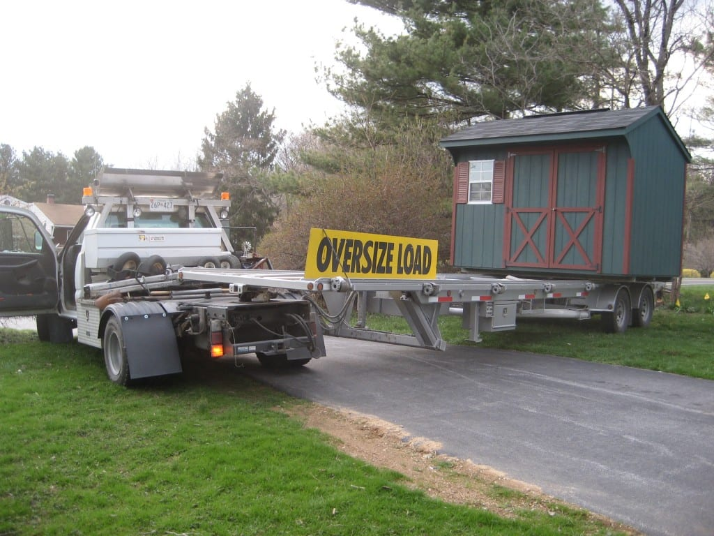 shed-relocation-with-truck-and-trailer