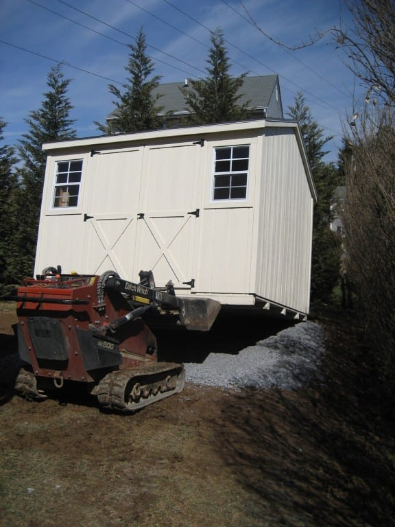 storage-shed-removal-with-skid-loader