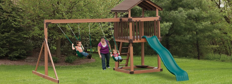 Cheap swing set in Frederick Maryland with tower and slide