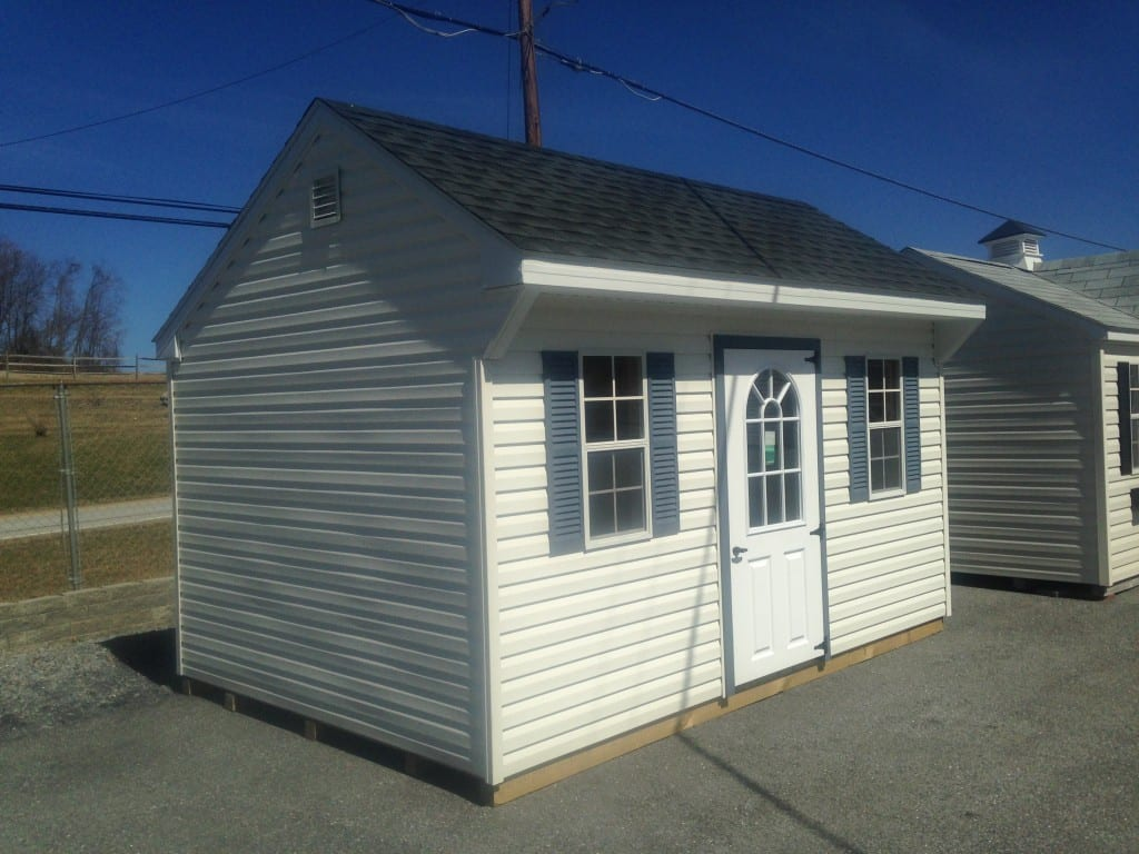 Sold 2755 10x14 vinyl quaker storage shed for sale 3500 for Outdoor storage sheds for sale cheap