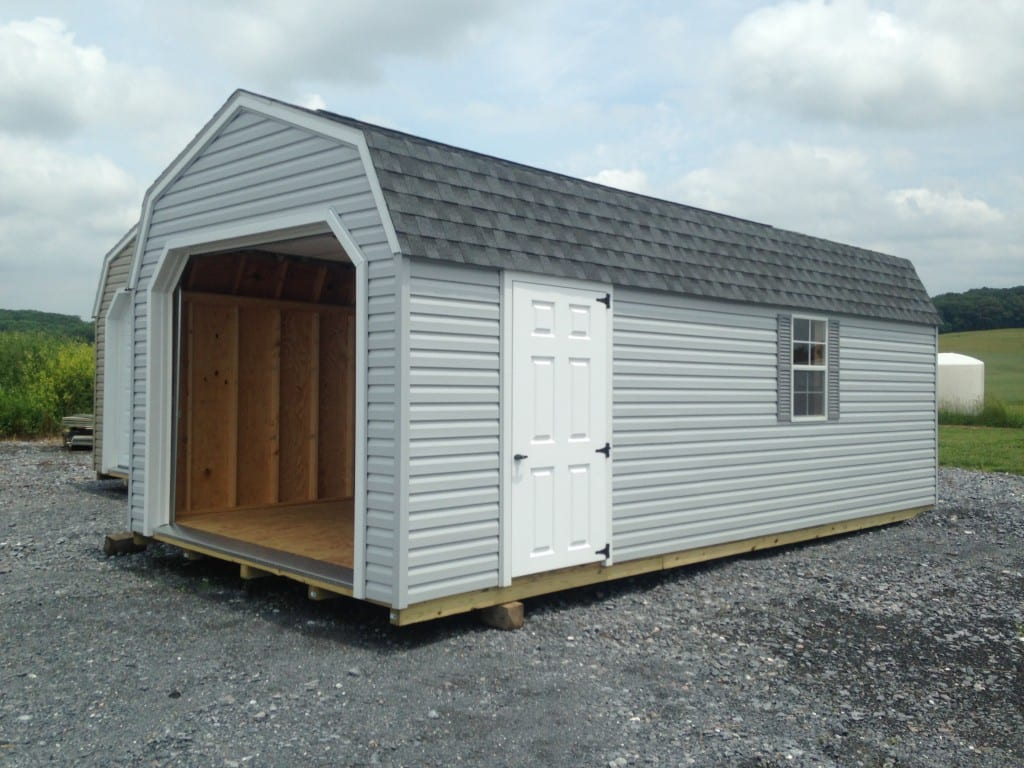12x24 Portable Storage Building : Portable storage barn with garge door for sale in