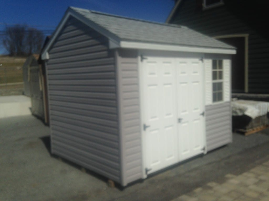 Sold 4365 8x10 vinyl a frame storage shed for sale 1824 for Cheap outdoor sheds for sale