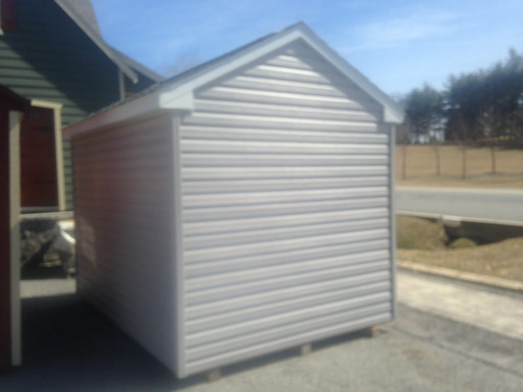8x12 Vinyl A-Frame Shed for Sale