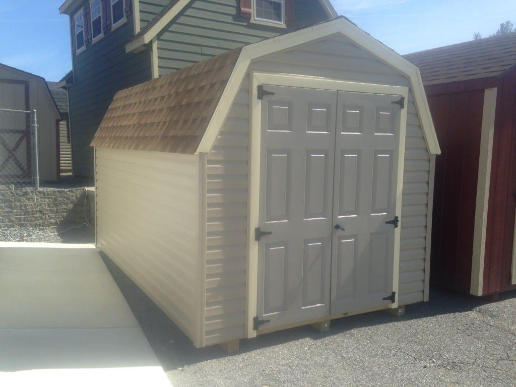 8x12 Vinyl Mini Barn for Sale Cheap