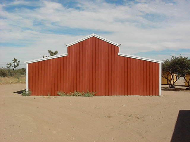 large-red-steel-barn