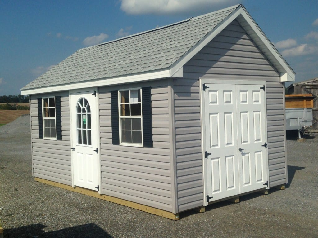 Sold 4900 vinyl storage shed for sale 4448 4 outdoor for Garden shed january sale