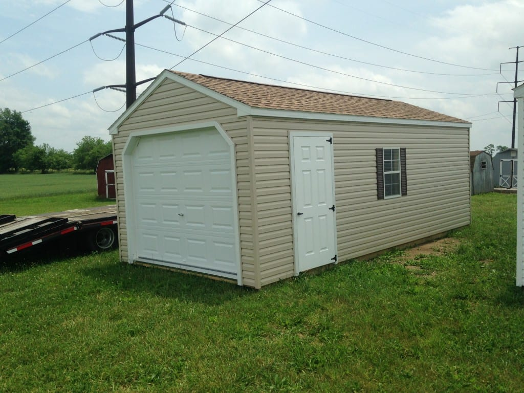 Portable Carport With Shed : Vinyl portable garage for sale