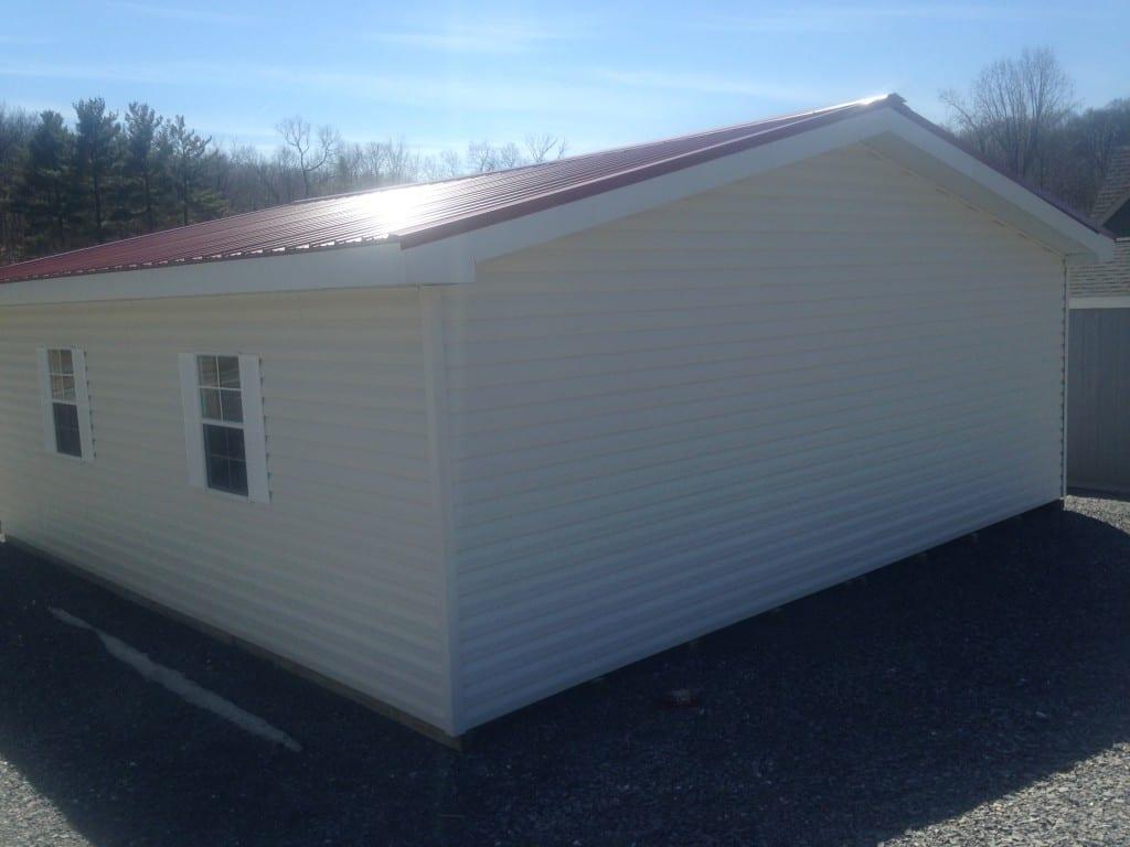two car garage delivered prefab in maryland for sale