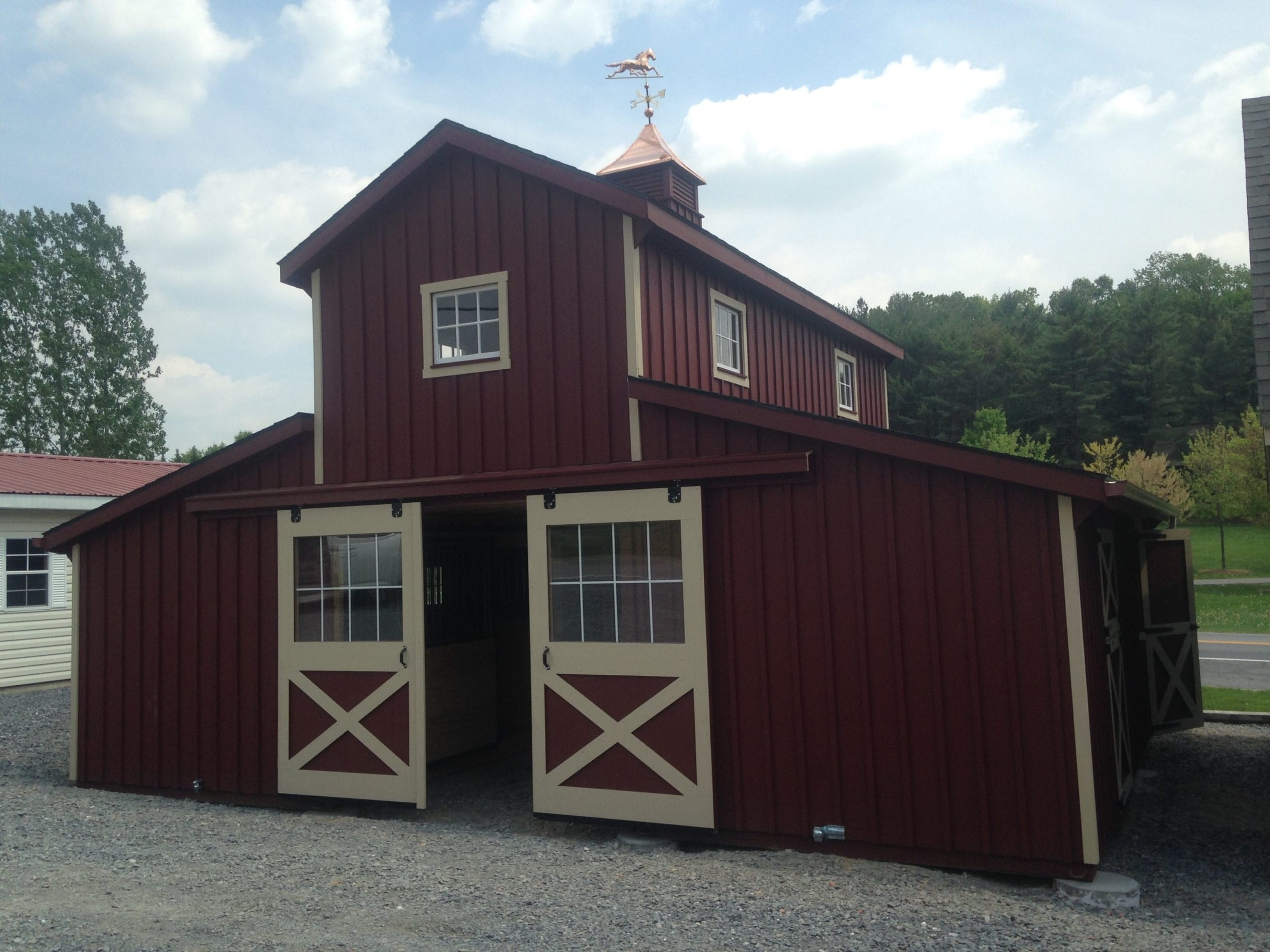 contact office barns our more img woodframe amish horse structures information about for